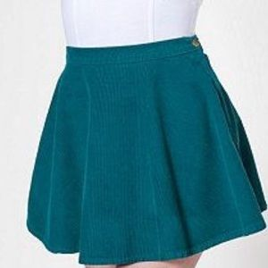 American Apparel High waisted corduroy skirt